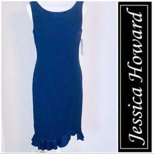 Jessica Howard ruffle sheath dress